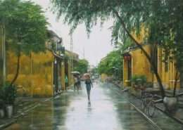 tranh son dau pho co 1-2012
