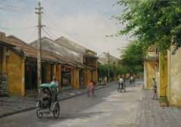 tranh son dau pho co 1-2013